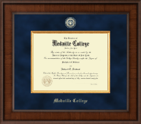 Medaille College Diploma Frame - Presidential Masterpiece Diploma Frame in Madison