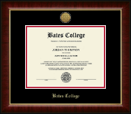 Bates College Diploma Frame - Gold Engraved Medallion Diploma Frame in Murano