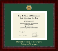 The State University of New York College at Brockport Diploma Frame - Gold Engraved Medallion Diploma Frame in Sutton