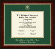 The State University of New York College at Brockport Diploma Frame - Gold Embossed Diploma Frame in Murano
