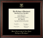 The State University of New York College at Brockport Diploma Frame - Gold Embossed Diploma Frame in Studio