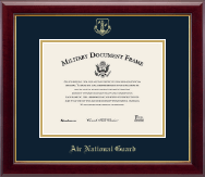 Gold Embossed Air National Guard Certificate Frame