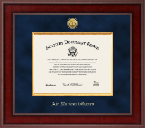 Presidential Gold Engraved Air National Guard Certificate Frame
