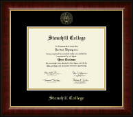 Stonehill College Diploma Frame - Gold Embossed Diploma Frame in Murano