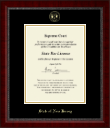 State of New Jersey Certificate Frame - Gold Embossed Certificate Frame in Sutton