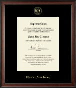 State of New Jersey Certificate Frame - Gold Embossed Certificate Frame in Studio