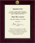 State of New Jersey Certificate Frame - Century Gold Engraved Certificate Frame in Cordova
