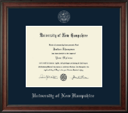 University of New Hampshire at Manchester Diploma Frame - Silver Embossed Diploma Frame in Studio