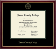Essex County College Diploma Frame - Gold Embossed Diploma Frame in Galleria