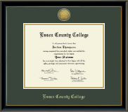 Essex County College Diploma Frame - Gold Engraved Medallion Diploma Frame in Onexa Gold
