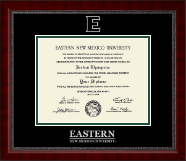 Eastern New Mexico University Diploma Frame - Silver Embossed Diploma Frame in Sutton