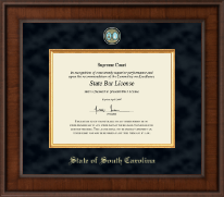 State of South Carolina Certificate Frame - Presidential Masterpiece Certificate Frame in Madison