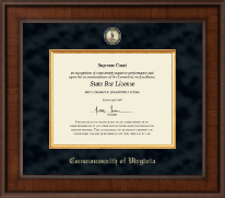 Commonwealth of Virginia Certificate Frame - Presidential Masterpiece Certificate Frame in Madison