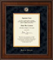 State of Illinois Certificate Frame - Presidential Masterpiece Certificate Frame in Madison