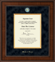 State of Texas Certificate Frame - Presidential Masterpiece Certificate Frame in Madison