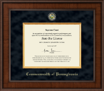 Commonwealth of Pennsylvania Certificate Frame - Presidential Masterpiece Certificate Frame in Madison