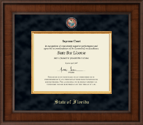 State of Florida Certificate Frame - Presidential Masterpiece Certificate Frame in Madison