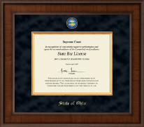 State of Ohio Certificate Frame - Presidential Masterpiece Certificate Frame in Madison