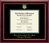 The State University of New York College at Brockport Diploma Frame - Masterpiece Medallion Diploma Frame in Gallery