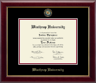 Winthrop University Diploma Frame - Masterpiece Medallion Diploma Frame in Gallery