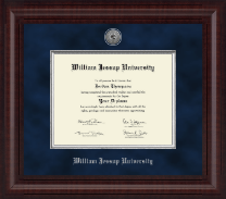William Jessup University Diploma Frame - Presidential Silver Engraved Diploma Frame in Premier