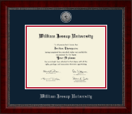 William Jessup University Diploma Frame - Silver Engraved Medallion Diploma Frame in Sutton