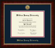 William Jessup University Diploma Frame - Gold Engraved Medallion Diploma Frame in Murano