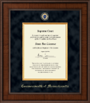 Commonwealth of Massachusetts Certificate Frame - Presidential Masterpiece Certificate Frame in Madison