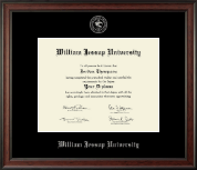 William Jessup University Diploma Frame - Silver Embossed Diploma Frame in Studio