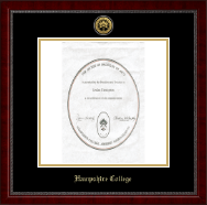 Hampshire College Gold Engraved Medallion Diploma Frame in Sutton