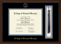 College of Coastal Georgia Diploma Frame - Tassel Edition Diploma Frame in Delta