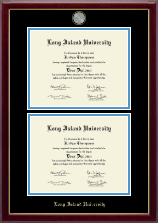 Long Island University Post Diploma Frame - Masterpiece Medallion Double Diploma Frame in Gallery