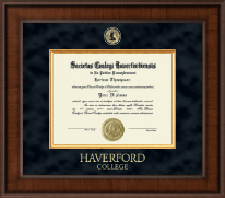 Haverford College Diploma Frame - Presidential Masterpiece Diploma Frame in Madison