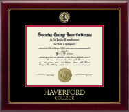 Haverford College Diploma Frame - Masterpiece Medallion Diploma Frame in Gallery