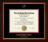 Haverford College Diploma Frame - Gold Embossed Diploma Frame in Murano