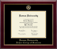 Rowan University Diploma Frame - Masterpiece Medallion Diploma Frame in Gallery