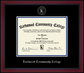 Silver Embossed Diploma Frame in Academy