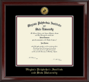 Gold Engraved Medallion Diploma Frame in Encore