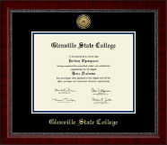 Glenville State College Gold Engraved Medallion Diploma Frame in Sutton