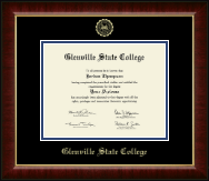 Glenville State College Gold Embossed Diploma Frame in Murano