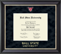Ball State University Regal Edition Diploma Frame in Noir
