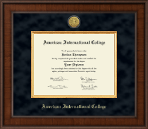 American International College Presidential Gold Engraved Diploma Frame in Madison