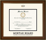 Mortar Board National College Senior Honor Society Dimensions Certificate Frame in Westwood