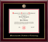 Massachusetts Institute of Technology Diploma Frame - Masterpiece Medallion Diploma Frame in Gallery