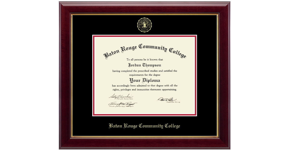Baton Rouge Community College Gold Embossed Diploma Frame in Gallery ...
