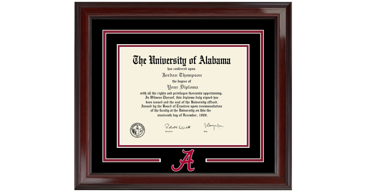 The University of Alabama Tuscaloosa Spirit Logo Diploma Frame in ...