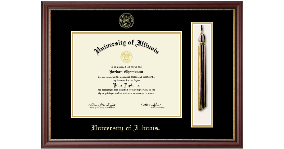 University of Illinois Tassel Edition Diploma Frame in Newport ...