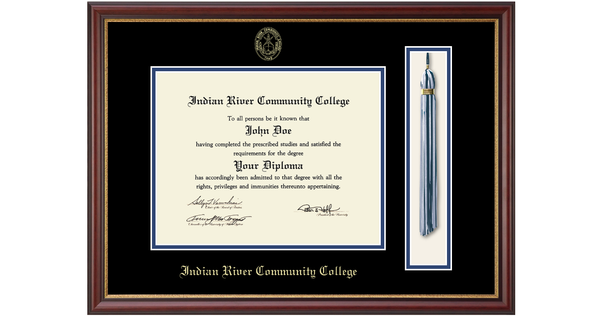 Indian River State College Tassel Edition Diploma Frame In