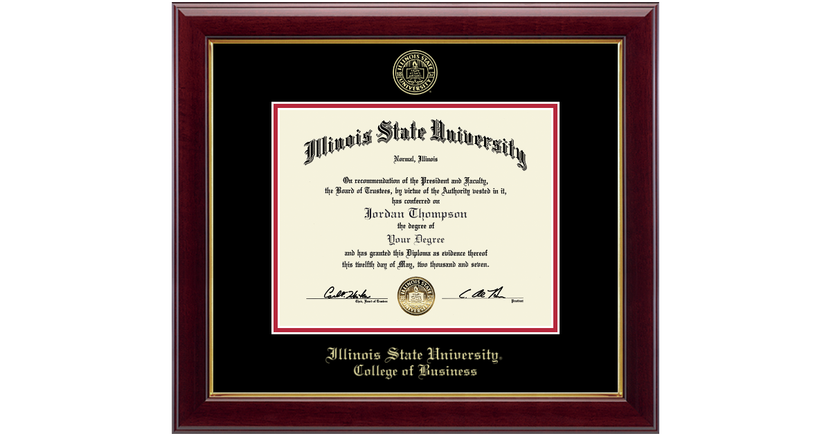 Illinois State University Gold Embossed Diploma Frame in Gallery ...