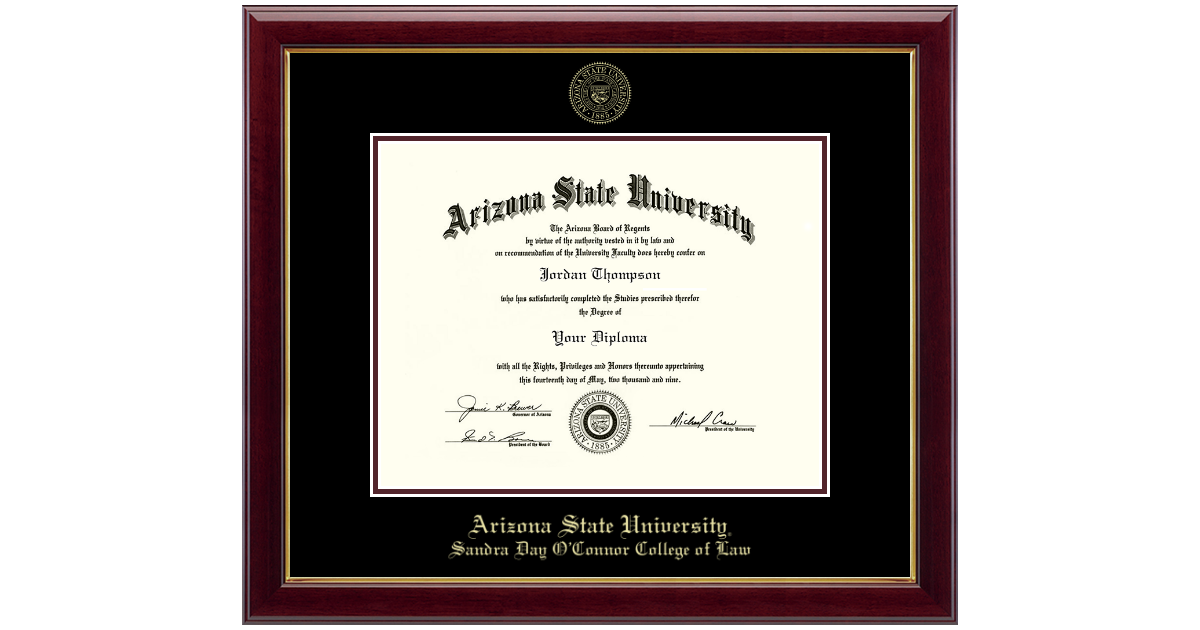Arizona State University Gold Embossed Diploma Frame In Gallery